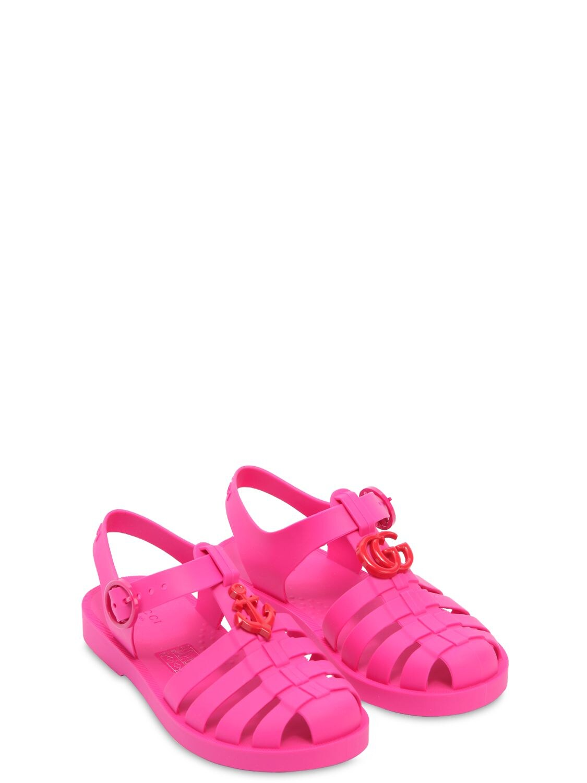 GUCCI | Logo Rubber Sandals | Clouty