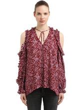 Magda Butrym | Рубашка Из Шелкового Жаккарда | Clouty