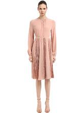 Rochas | Платье Из Крепдешина С Открытой Спиной | Clouty