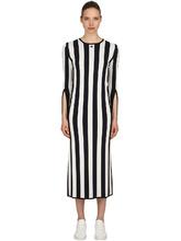 Courrèges | Платье Из Вискозного Трикотажа В Полоску | Clouty