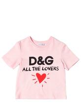 "Dolce & Gabbana | Футболка ""All The Lovers"" Из Хлопкового Джерси | Clouty"