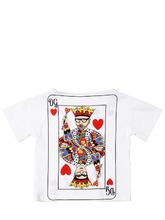 "Dolce & Gabbana | Футболка Из Хлопкового Джерси С Принтом ""Dg Kings | Clouty"