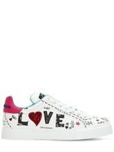 "Dolce & Gabbana | Кожаные Кроссовки ""Portofino Graffiti"" 20Мм | Clouty"