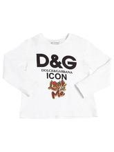 Dolce & Gabbana | Футболка Из Хлопкового Джерси С Логотипом | Clouty