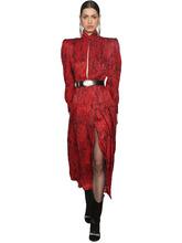 Alessandra Rich | Платье Из Шелкового Жаккарда | Clouty