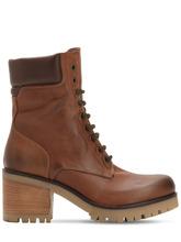 Strategia | Кожаные Ботинки В Винтажном Стиле 70Мм | Clouty