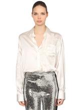 Ermanno Scervino   Рубашка Из Шелкового Атласа   Clouty