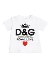 Dolce & Gabbana | Футболка Из Хлопкового Джерси С Принтом Логотипа | Clouty