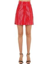 Versus | High Waist Coated Cotton Mini Skirt | Clouty