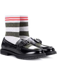 FENDI | Rockoko leather sock loafers | Clouty
