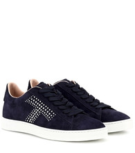 Tod's | Studded suede sneakers | Clouty