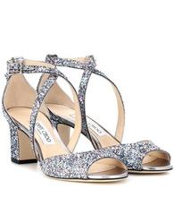 Jimmy Choo   Carrie 65 glitter sandals   Clouty