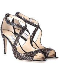 Jimmy Choo | Emily 85 glitter sandals | Clouty