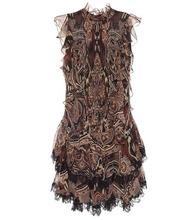 Etro | Paisley silk chiffon dress | Clouty
