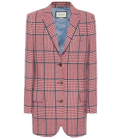 GUCCI | Checked wool-blend blazer | Clouty