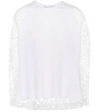 VALENTINO | Lace-panelled wool and cashmere sweater | Clouty