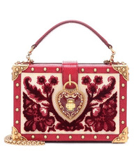 Dolce & Gabbana | My Heart velvet and leather clutch | Clouty