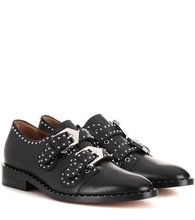 GIVENCHY | Elegant embellished leather monk strap shoes | Clouty