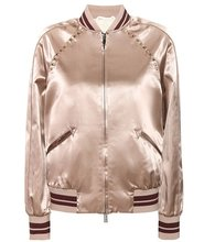 VALENTINO | Rockstud Untitled satin varsity jacket | Clouty