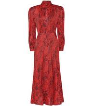 Alessandra Rich | Leopard silk jacquard dress | Clouty