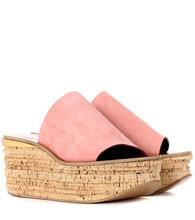 Chloé   Camille suede platform sandals   Clouty