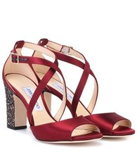Jimmy Choo | Carrie 85 satin sandals | Clouty