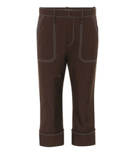 Chloé   Wool-blend cropped trousers   Clouty