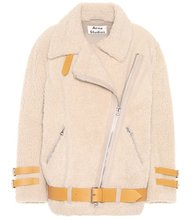 Acne Studios | Velocite leather-trimmed shearling jacket | Clouty