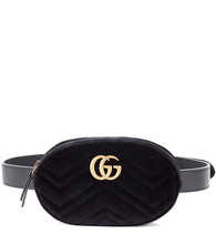GUCCI | GG Marmont velvet belt bag | Clouty
