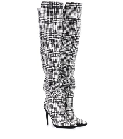 Off-White | Plaid over-the-knee boots | Clouty