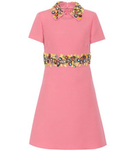 VALENTINO | Embellished wool and silk dress | Clouty