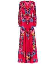 Etro | Floral-printed silk dress | Clouty