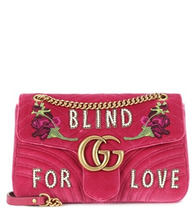 GUCCI | GG Marmont Medium velvet shoulder bag | Clouty