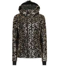 FENDI | Fur-trimmed jacquard ski jacket | Clouty