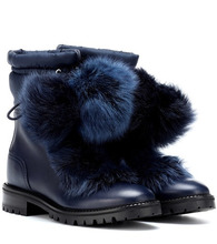 Jimmy Choo   Glacie leather and fur boots   Clouty