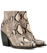 Chloé   Rylee embossed leather boots   Clouty