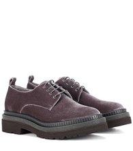 Brunello Cucinelli | Velvet Derby shoes | Clouty