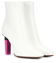 VETEMENTS | Highlighter-heel leather ankle boots | Clouty