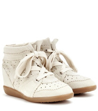 Isabel Marant | Bobby suede wedge sneakers | Clouty