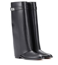 GIVENCHY | Pant Shark Lock leather boots | Clouty