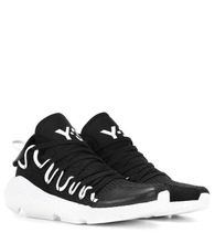 Y-3 | Kusari leather-trimmed sneakers | Clouty