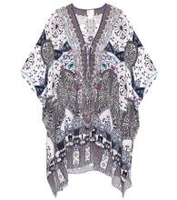 Camilla | Printed silk kaftan | Clouty