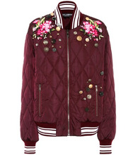 Dolce & Gabbana   Embroidered bomber jacket   Clouty