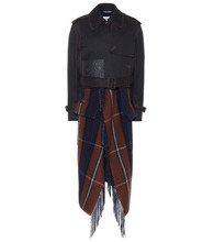 Loewe | Wool and cashmere layered trench coat | Clouty