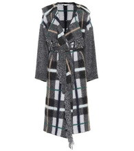 Stella McCartney   Checked wool and mohair-blend coat   Clouty