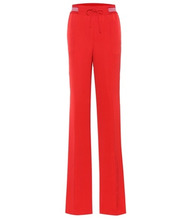 VALENTINO | Silk-blend wide-leg trousers | Clouty