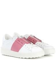 VALENTINO   Valentino Garavani Open leather sneakers   Clouty