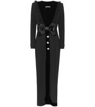 Alessandra Rich | Wool crepe maxi dress | Clouty