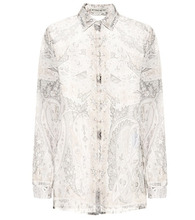 Etro   Printed organza blouse   Clouty