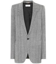 SAINT LAURENT | Herringbone wool jacket | Clouty